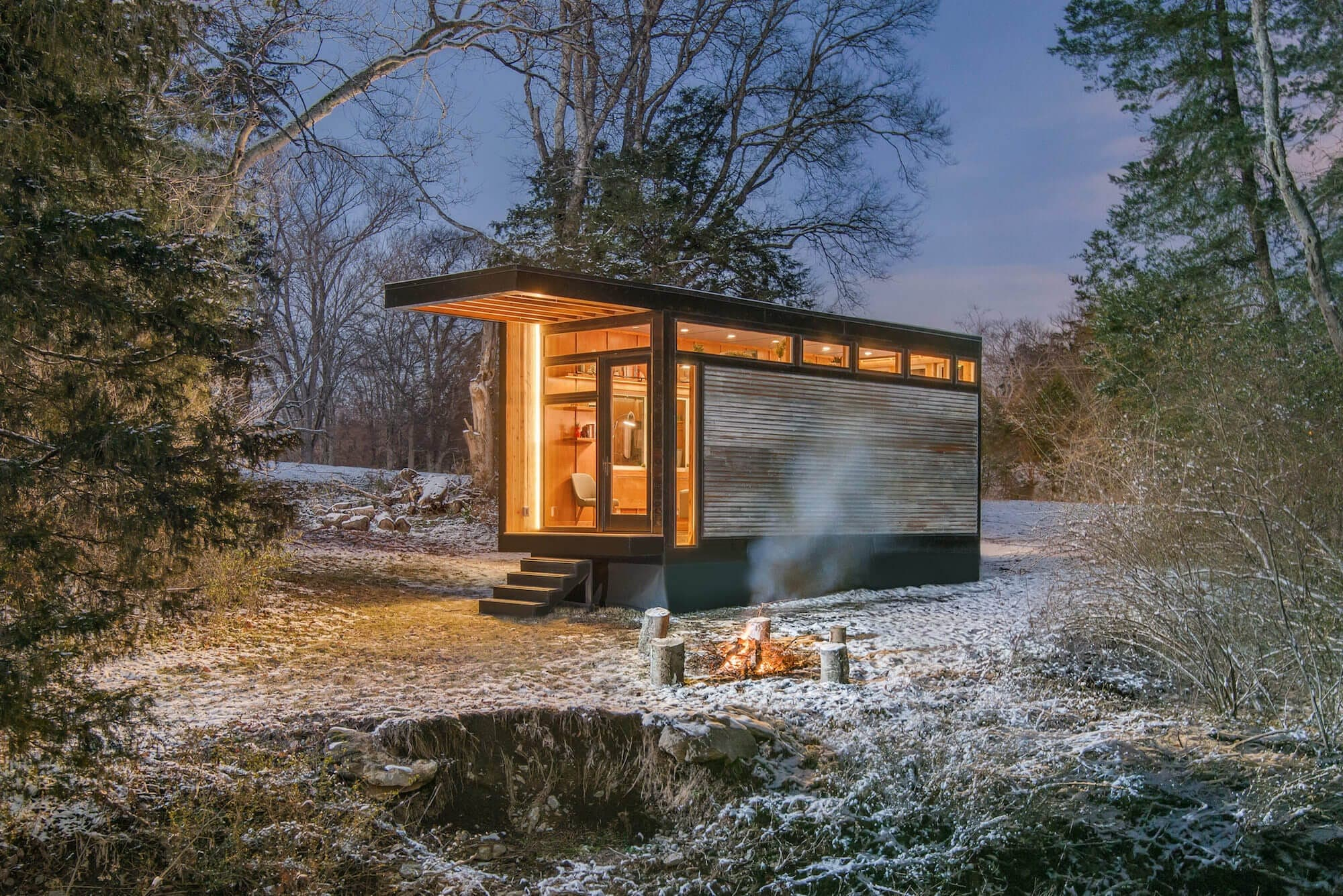 Ein sonderbares Refugium inmitten der Natur: The Cornelia Tiny House 1