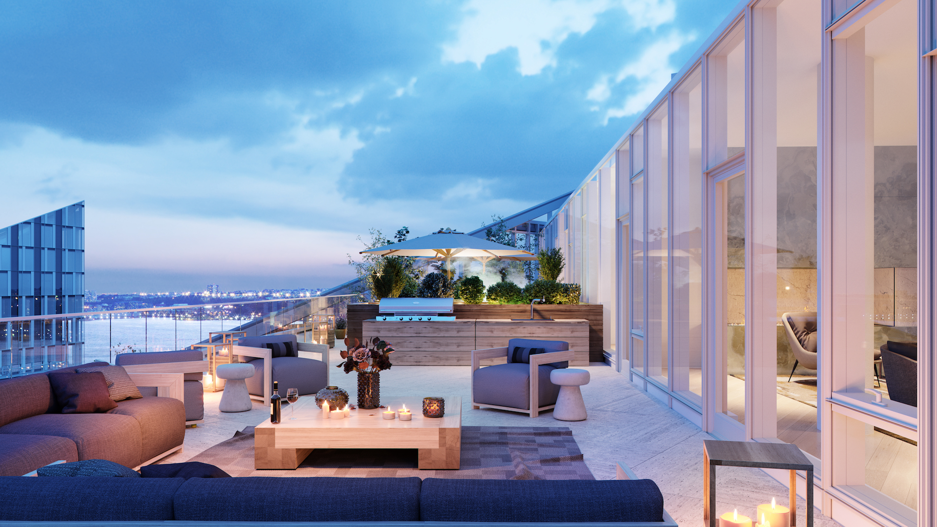 Waterline Square Penthouse in New York City Terrace