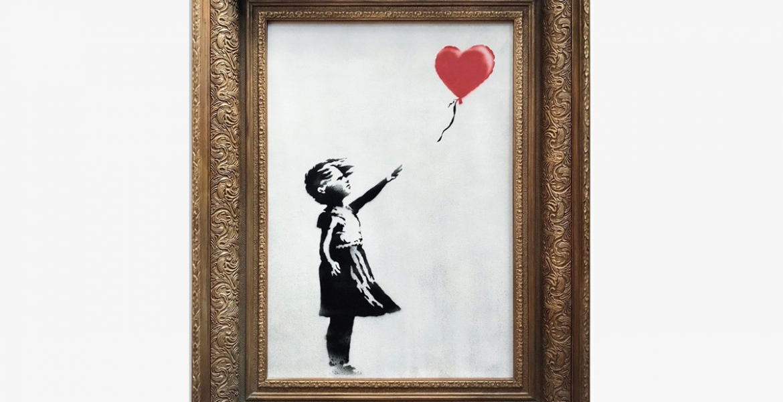 """Banksy: Zerschreddertes """"Girl with Balloon""""-Bild ist nun das Doppelte wert"""
