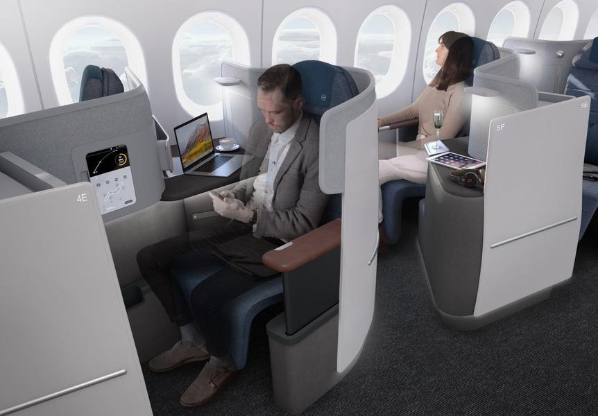 Das ist die neue Lufthansa Businessclass in der Boeing 777-9