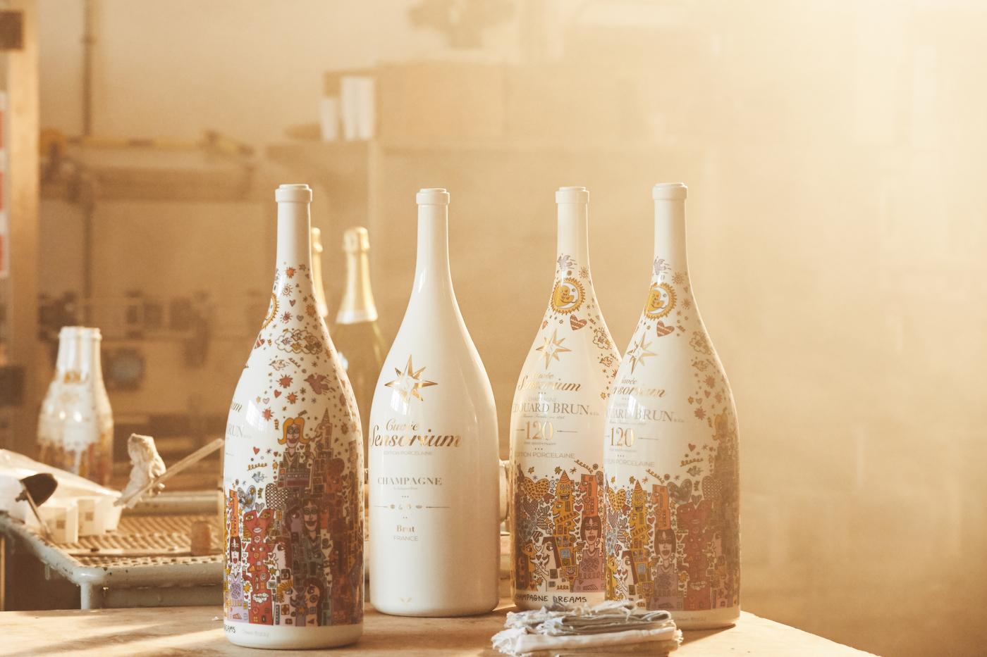 Cuvèe Sensorium stellt ersten Champagner in Porzellanflasche vor 7