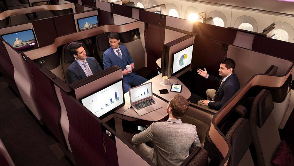 """Die neuen Qatar Airways """"Q-Suites"""" in der Business Class 1"""