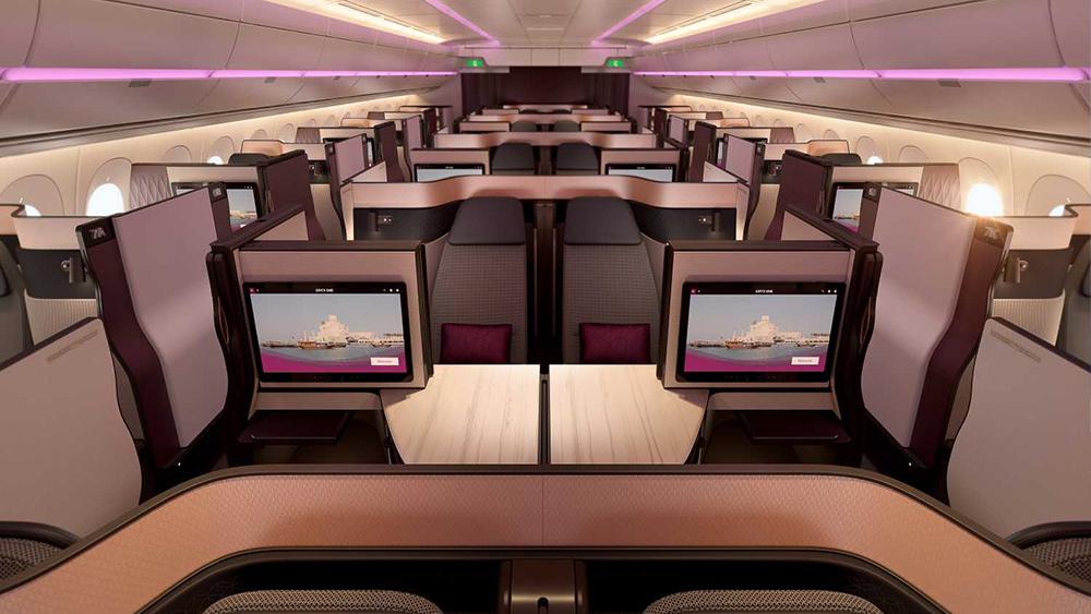 """Die neuen Qatar Airways """"Q-Suites"""" in der Business Class 2"""