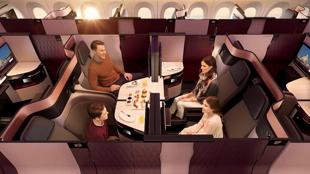 """Die neuen Qatar Airways """"Q-Suites"""" in der Business Class 4"""