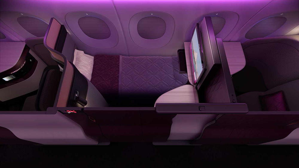 """Die neuen Qatar Airways """"Q-Suites"""" in der Business Class 5"""