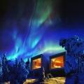 Nordlichter beobachten im Artic Treehouse Hotel in Finnland