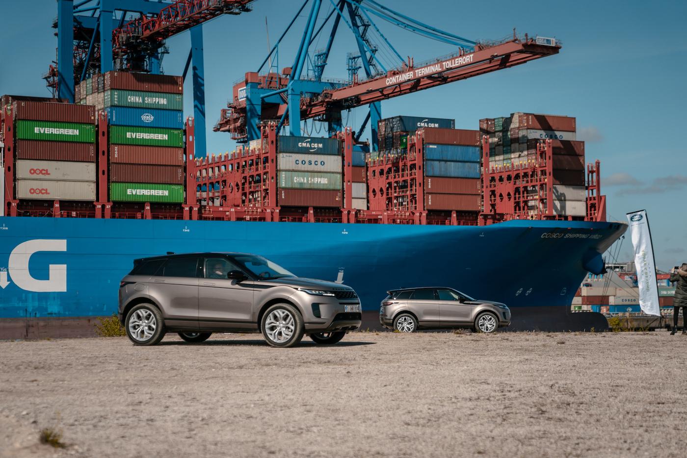 Offroad mal anders: Mit dem neuen Range Rover Evoque durch die Container-Stadt in Hamburg 4