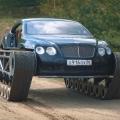 Ein Achtzylinder-Bentley auf Ketten: Youtuber baut Bentley Continental GT zum Panzer um