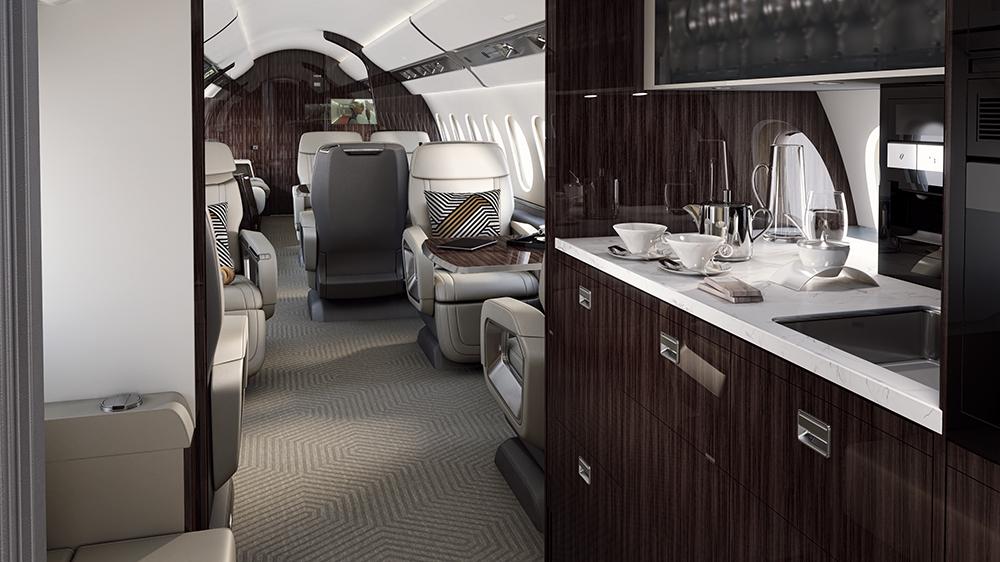 Der Dassault Aviation Falcon 6X: Dieser neue Business Jet kann nonstop von LA nach Genf fliegen 6