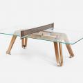 Ein Highlight für das Spielzimmer: Der Luxus Ping-Pong-Tisch aus Glas von Impatia