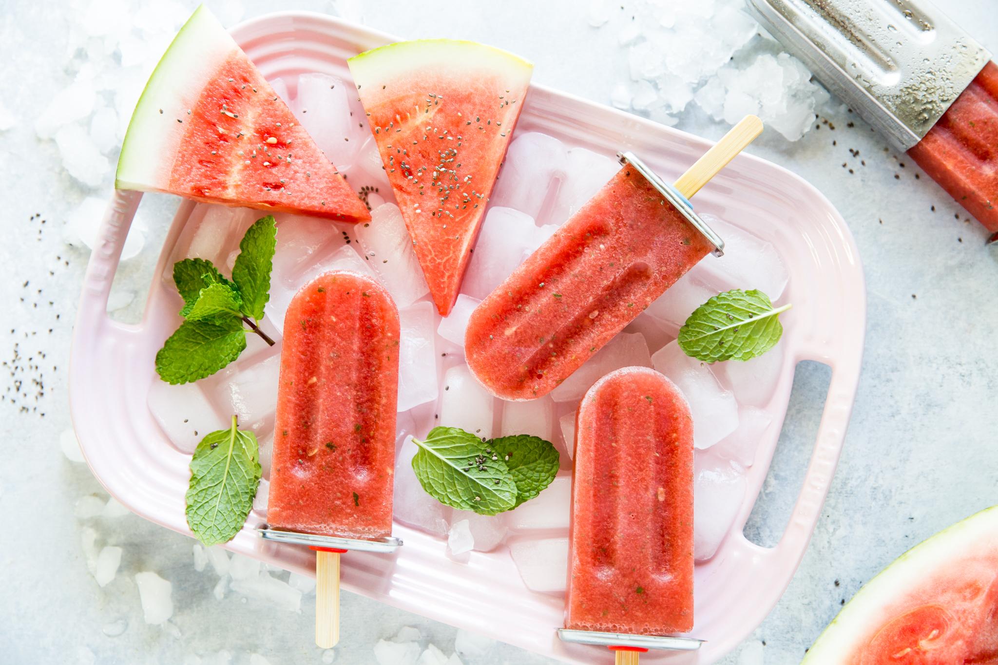 Mojito Eis am Stiel: Die Watermelon Mojito Popsicles