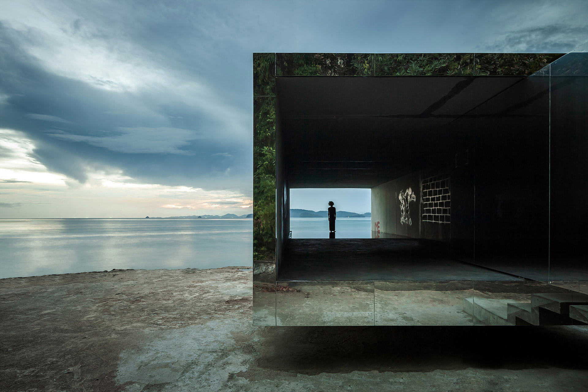 """Der """"No Sunrise – No Sunset"""" Pavilion auf Krabi in Thailand"""