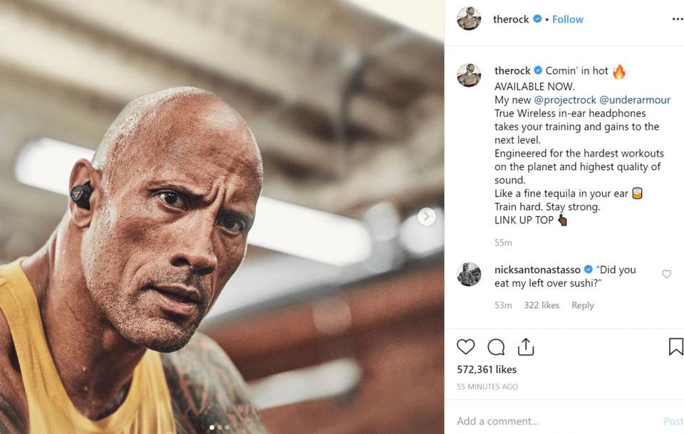 "Dwayne ""The Rock"" Johnson präsentiert eigene Kopfhörer"