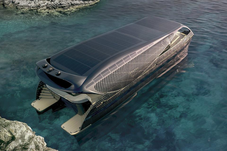 Die erste solarbetriebene Yacht der Welt von Solarimpact 4