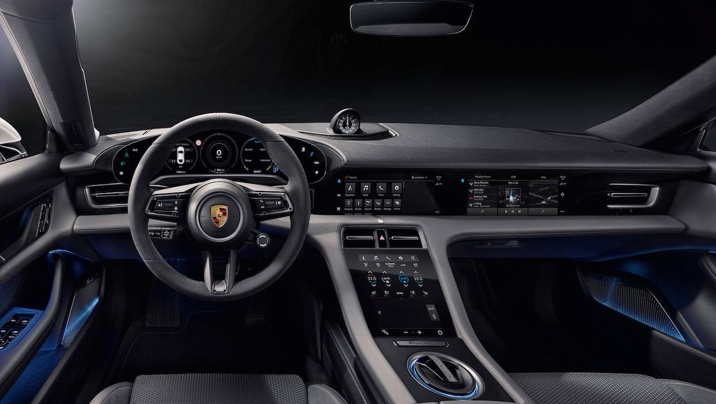 Digital, klar, nachhaltig: So sieht das Interieur des neuen Porsche Taycan aus 1
