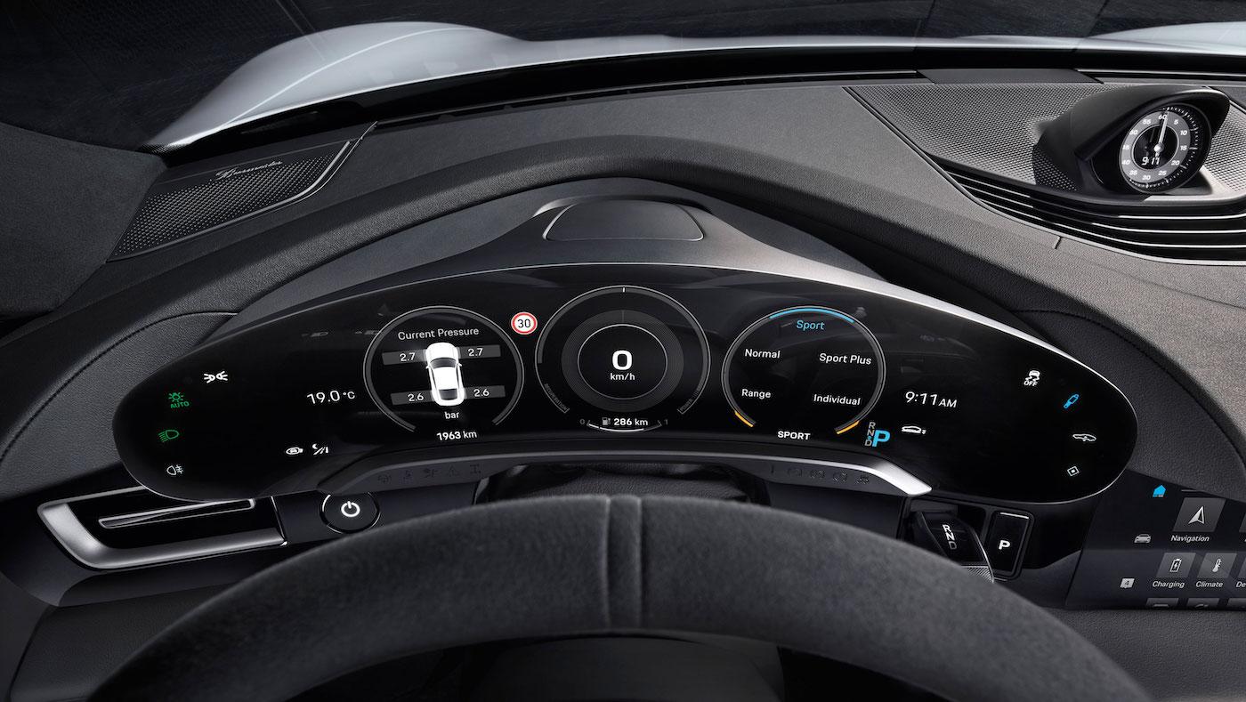 Digital, klar, nachhaltig: So sieht das Interieur des neuen Porsche Taycan aus 3