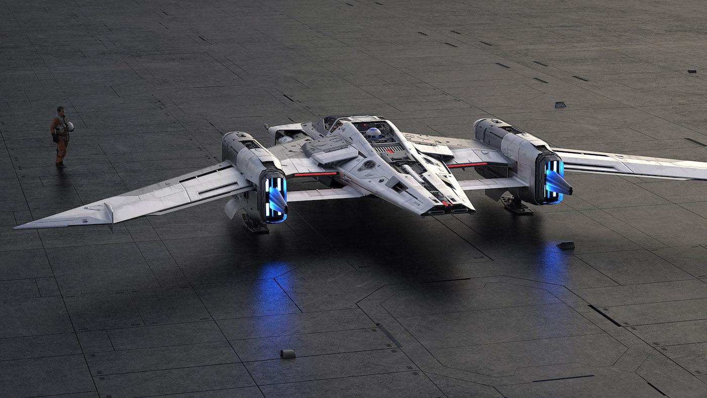 Porsche und Lucasfilm präsentieren gemeinsames Raumschiff-Design 6
