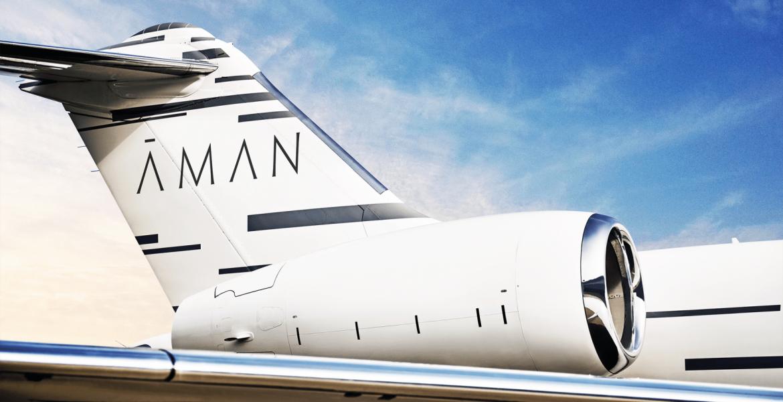 Himmlicher Luxus: Luxusresort-Gruppe Aman präsentiert Privatjet-Service