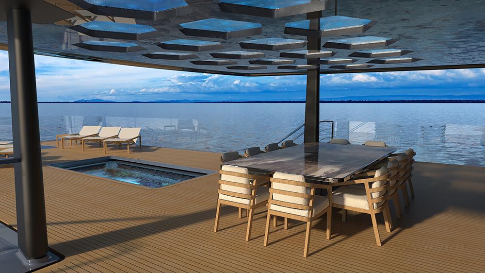 Diese Megayacht verfügt über einen Pool mit Glasboden und Blick auf ein Aquarium 6