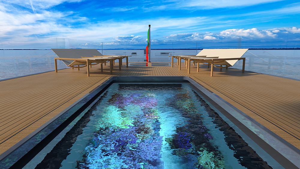 Diese Megayacht verfügt über einen Pool mit Glasboden und Blick auf ein Aquarium 5