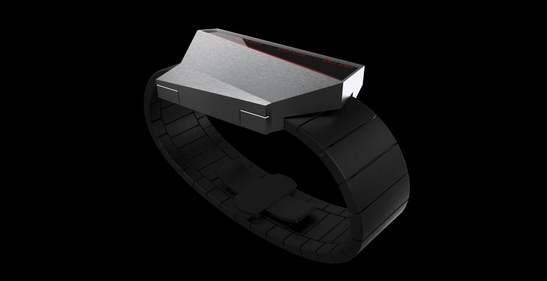 Anicorn präsentiert digitale Uhr inspiriert vom Tesla Cybertruck