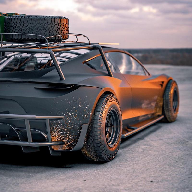 Dieses Tesla Roadster-Konzept ist bereit für die Apokalypse 10