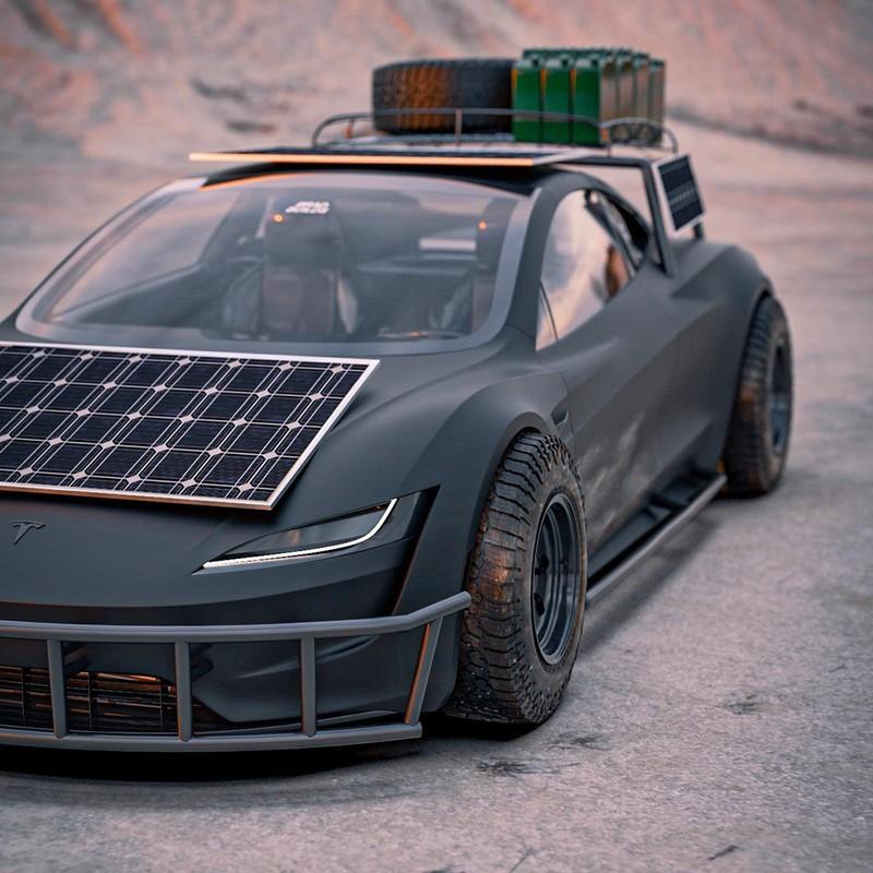 Dieses Tesla Roadster-Konzept ist bereit für die Apokalypse 7