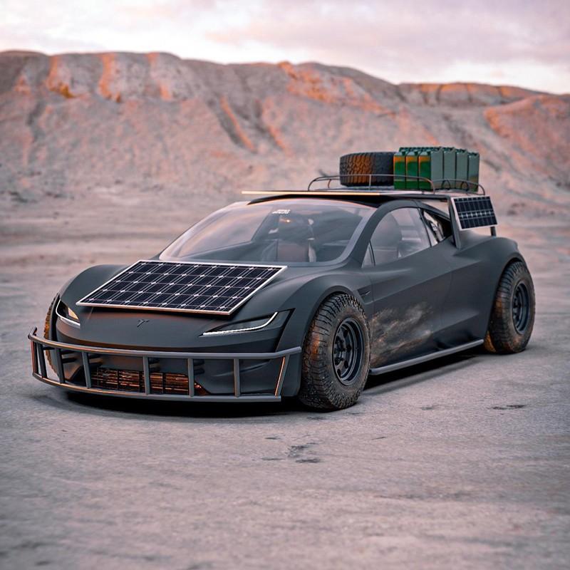 Dieses Tesla Roadster-Konzept ist bereit für die Apokalypse 6