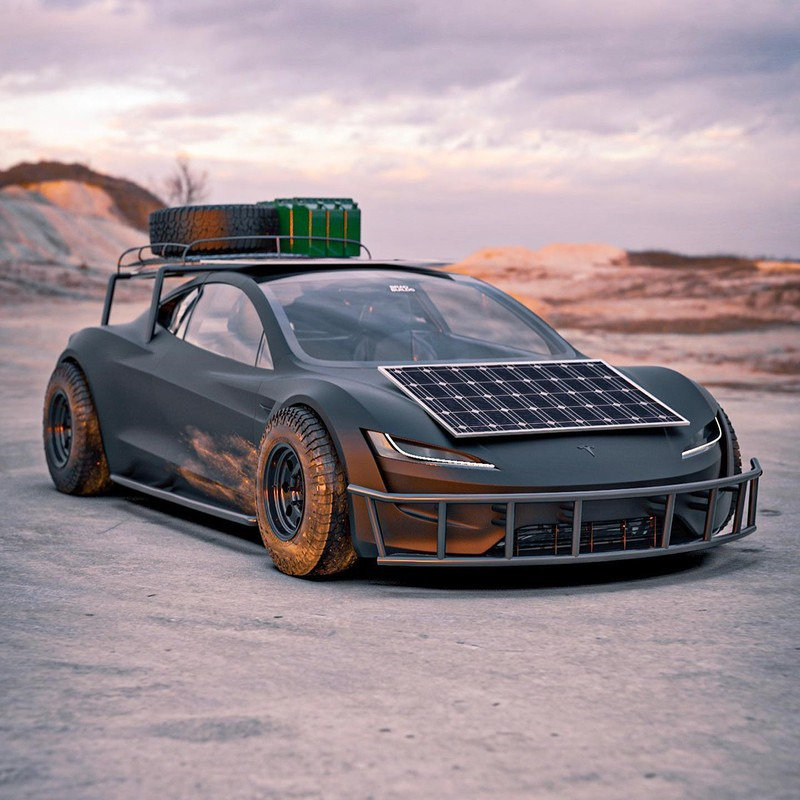 Dieses Tesla Roadster-Konzept ist bereit für die Apokalypse 1