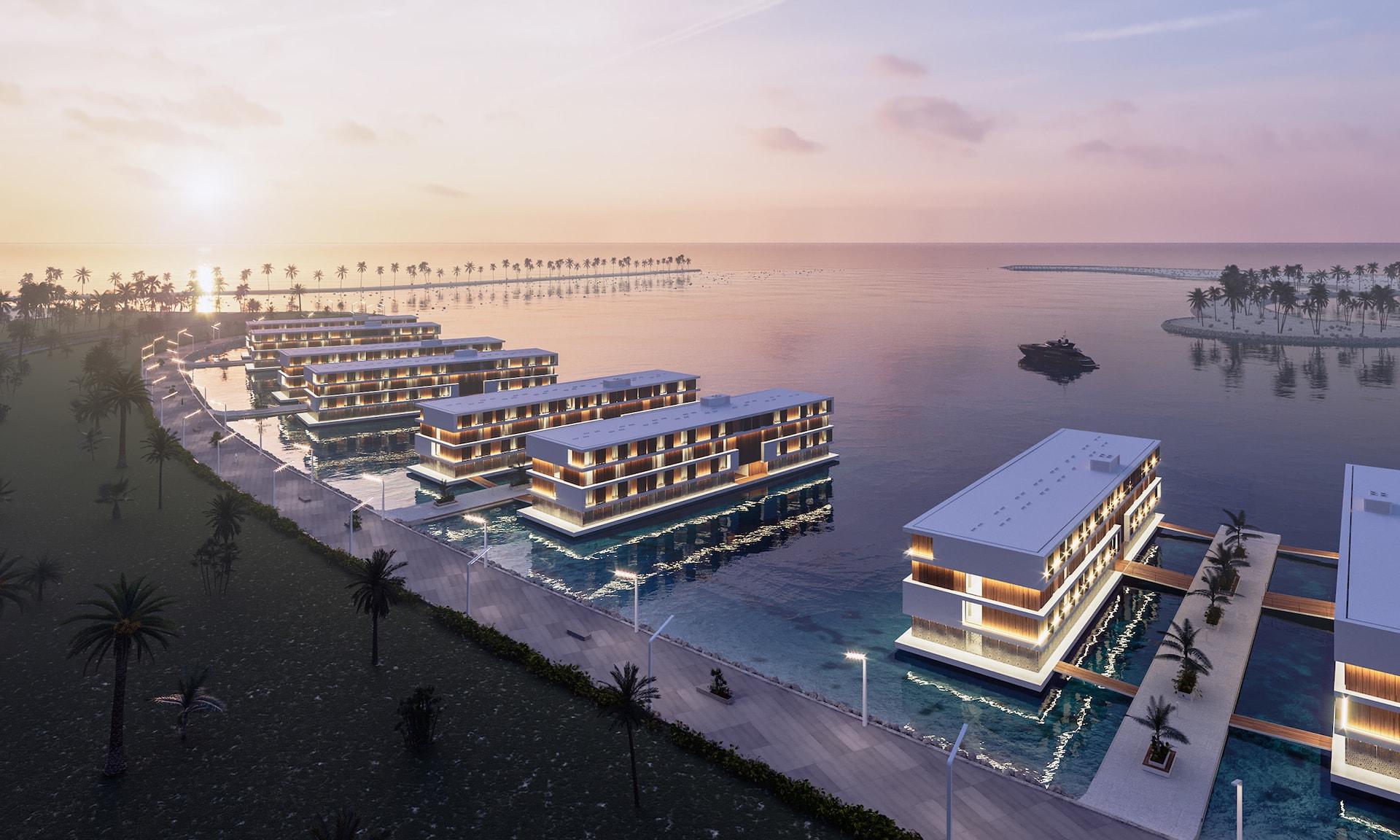 Qetaifan Island: Katar baut 16 schwimmende Hotels für die WM 2022 1