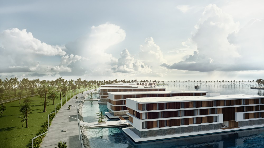 Qetaifan Island: Katar baut 16 schwimmende Hotels für die WM 2022 2