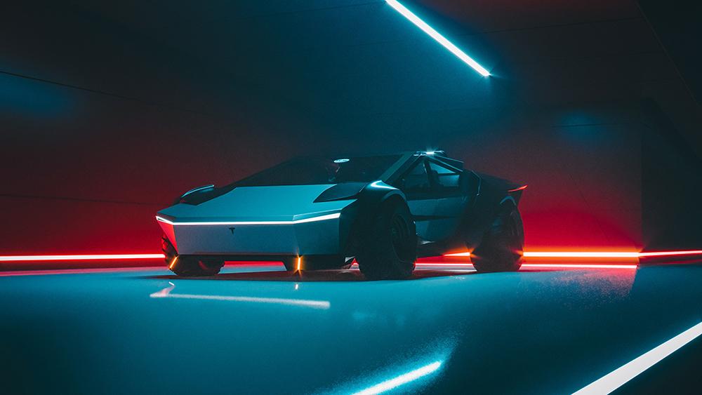 Dieses neue Cybertruck-Konzept verwandelt den elektrischen Pickup in einen Supersportwagen 2