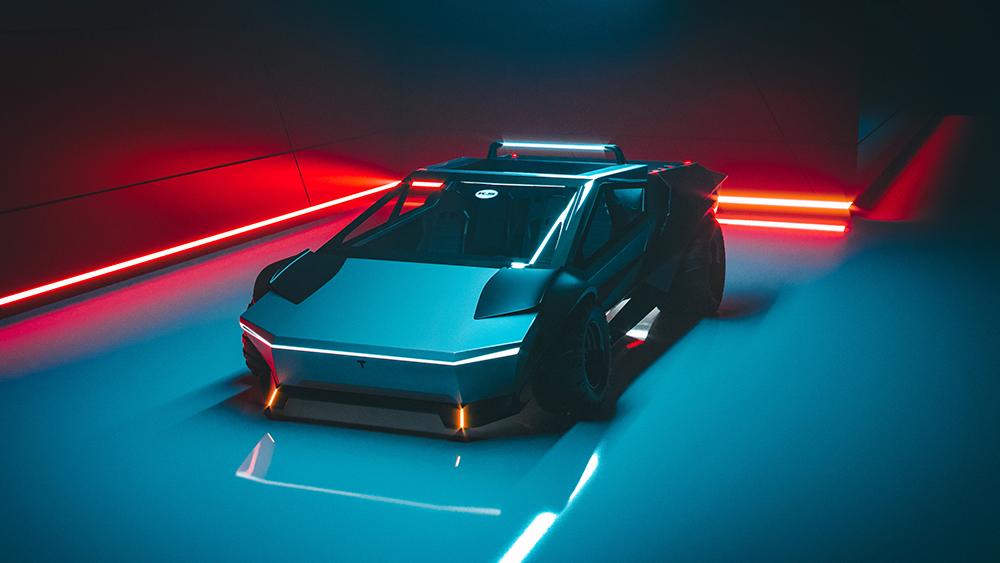 Dieses neue Cybertruck-Konzept verwandelt den elektrischen Pickup in einen Supersportwagen 1