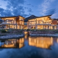 Das Sunset Ridge House in Colorado mit Blick auf die Rocky Mountains