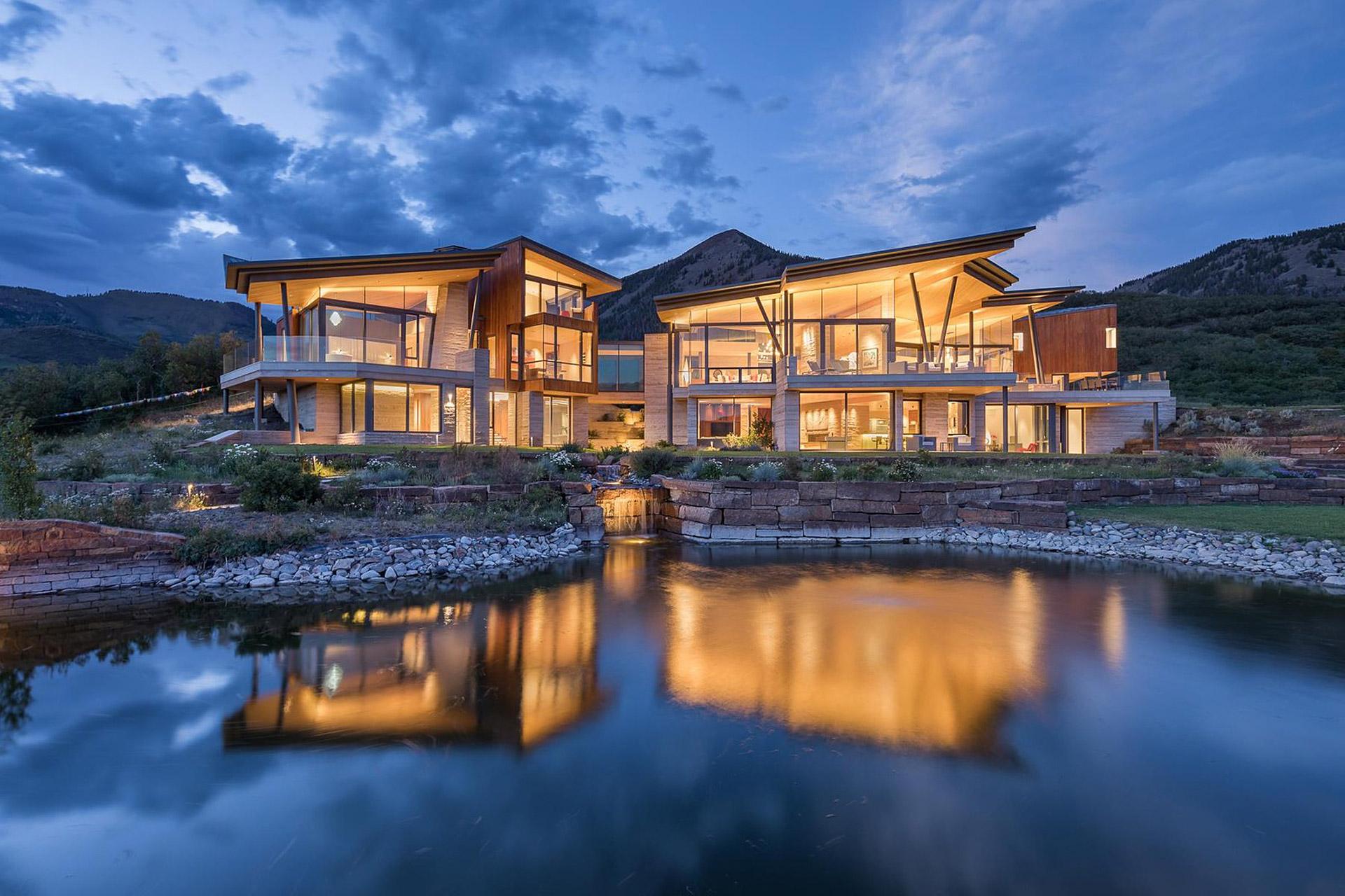 Das Sunset Ridge House in Colorado mit Blick auf die Rocky Mountains 1
