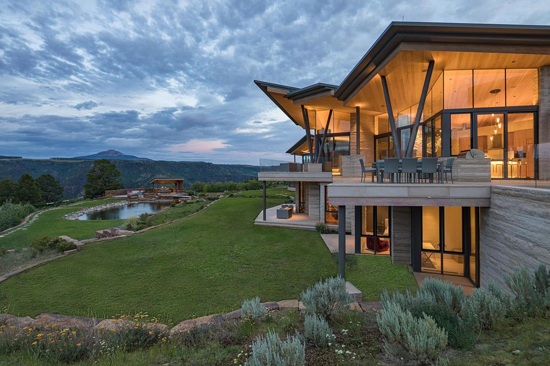 Das Sunset Ridge House in Colorado mit Blick auf die Rocky Mountains 2