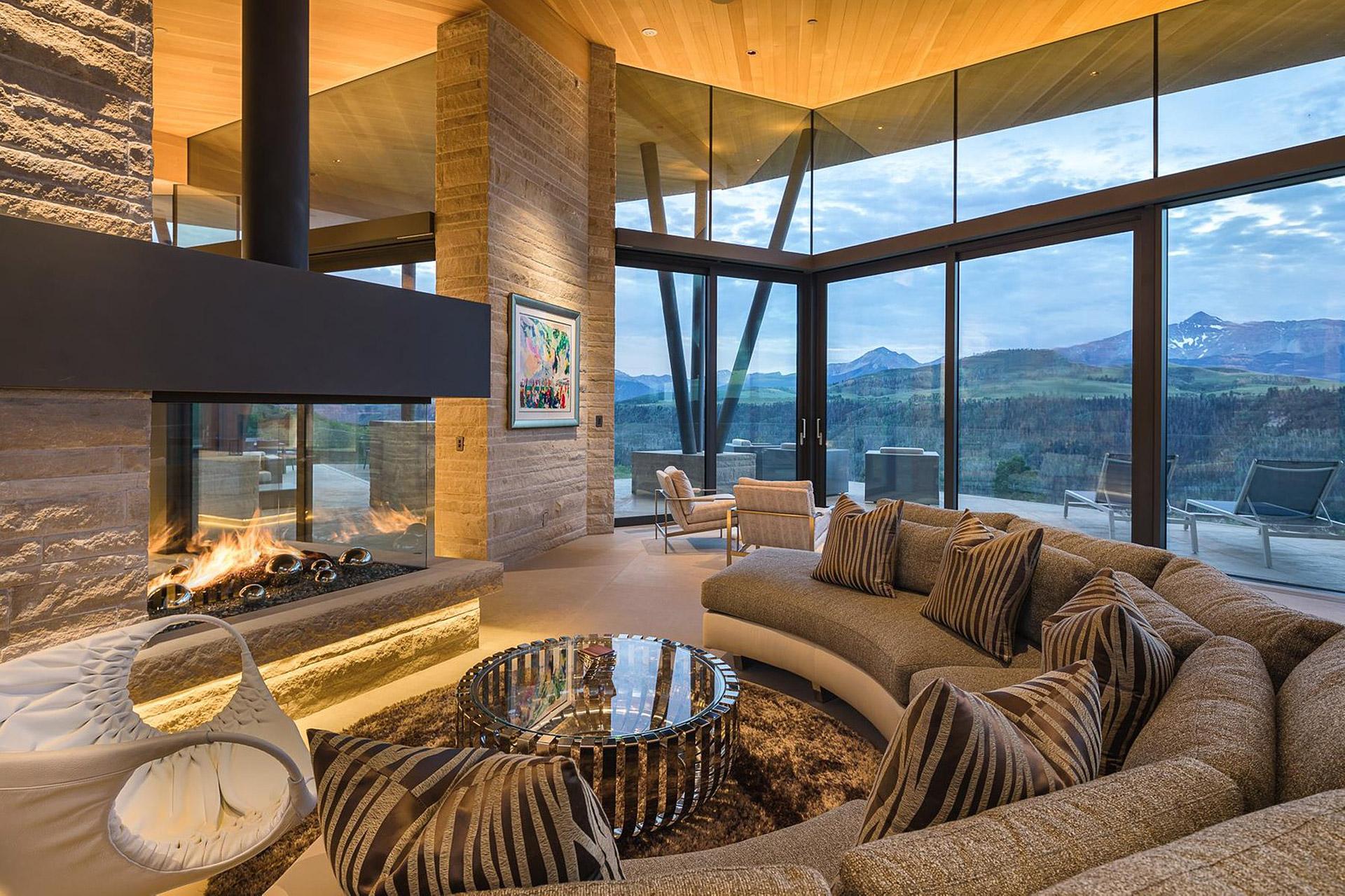 Das Sunset Ridge House in Colorado mit Blick auf die Rocky Mountains 3