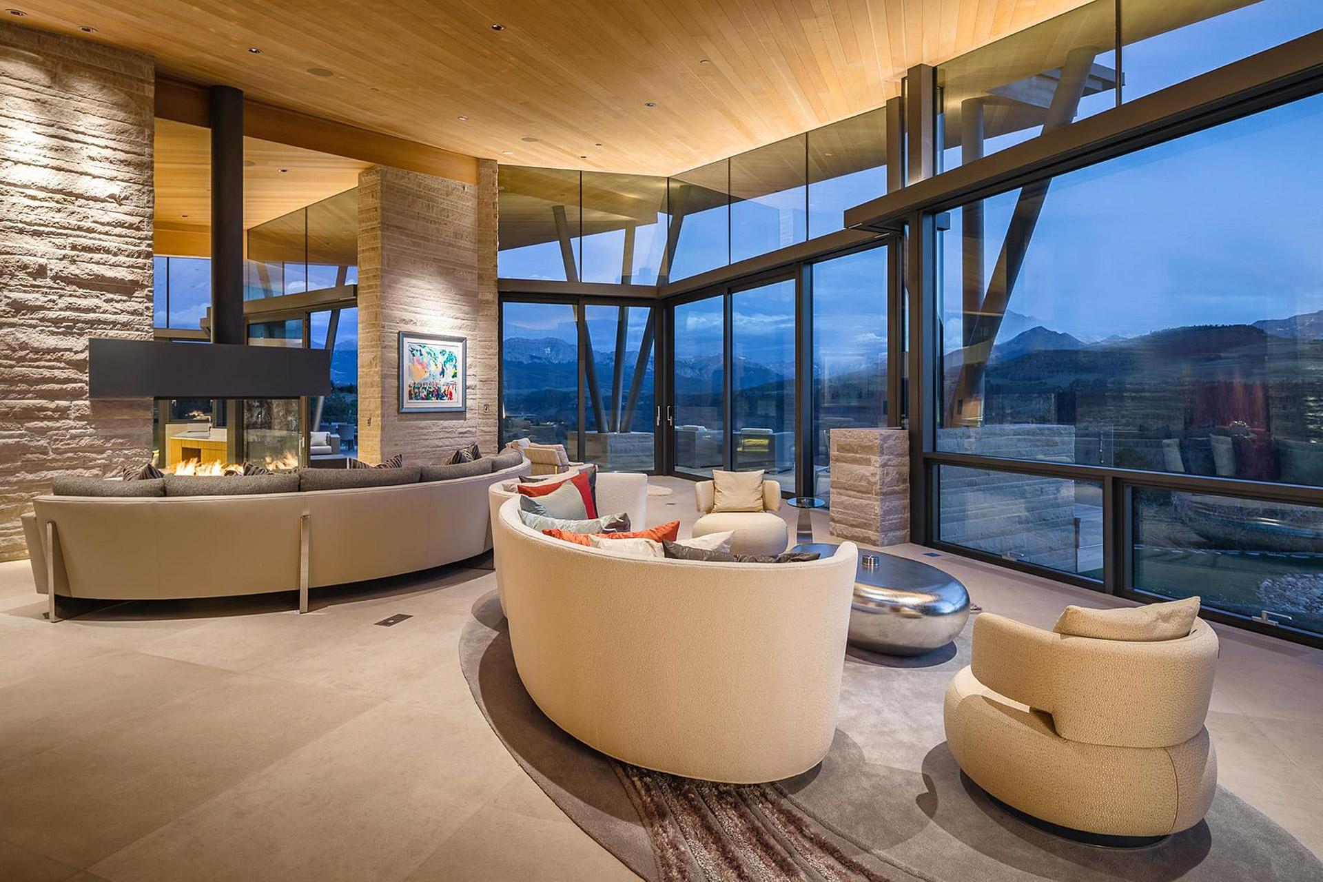 Das Sunset Ridge House in Colorado mit Blick auf die Rocky Mountains 4
