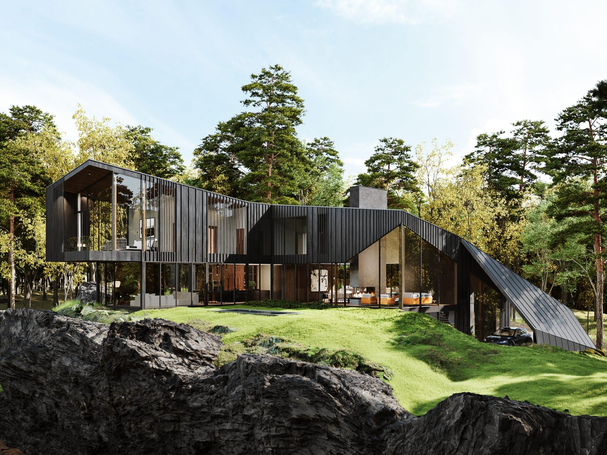 S3 Architectures und Aston Martin präsentieren ein Traumhaus im Bundesstaat New York 1