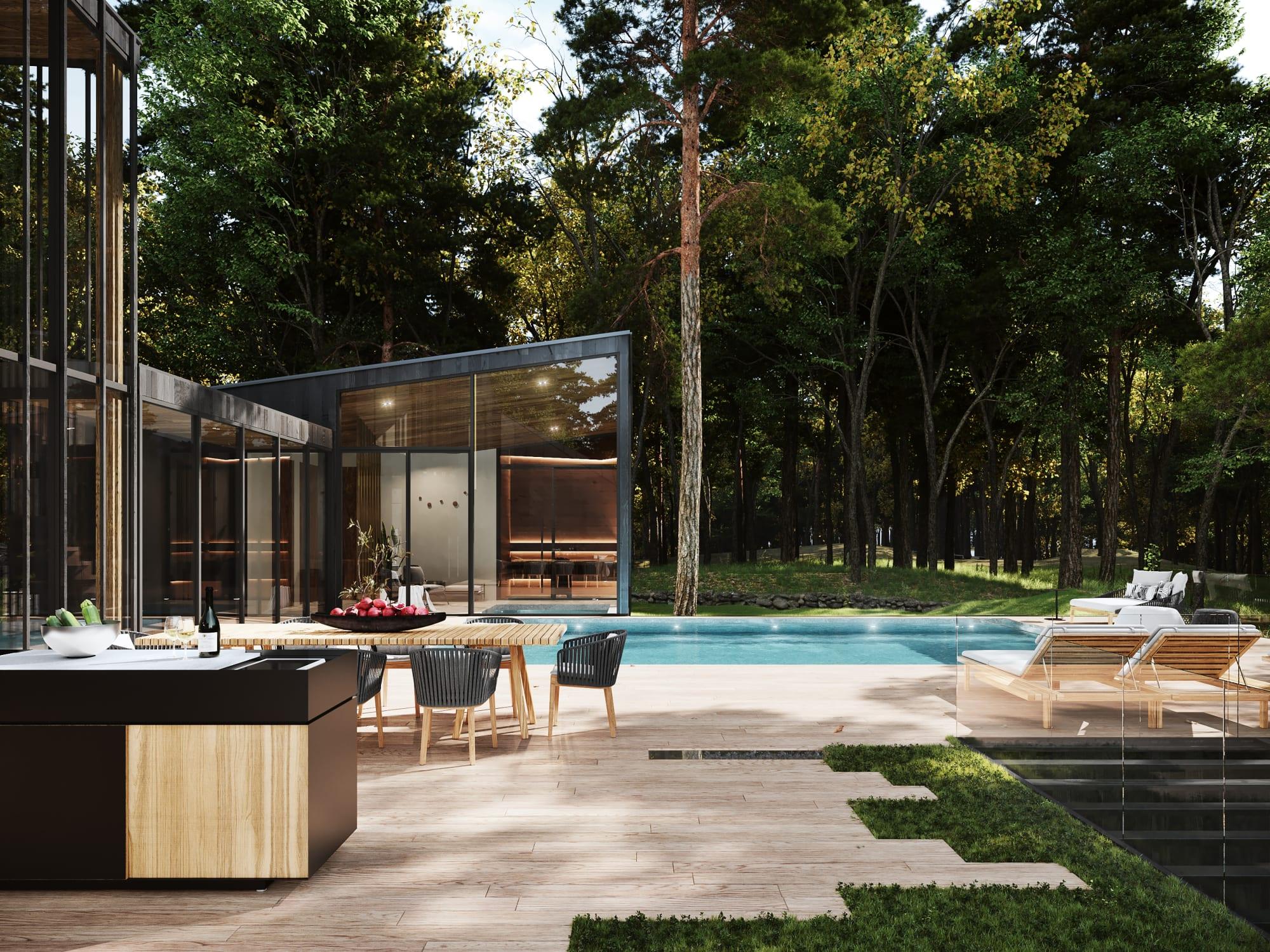 S3 Architectures und Aston Martin präsentieren ein Traumhaus im Bundesstaat New York 4